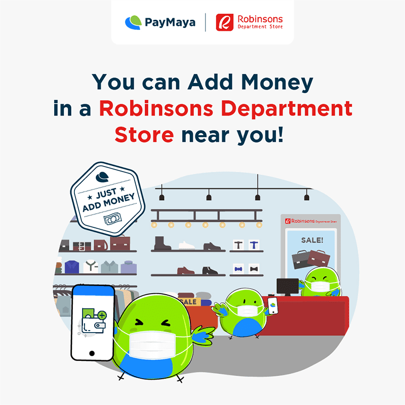 """PayMaya users can now """"Add Money"""" to Robinsons Department Stores nationwide"""