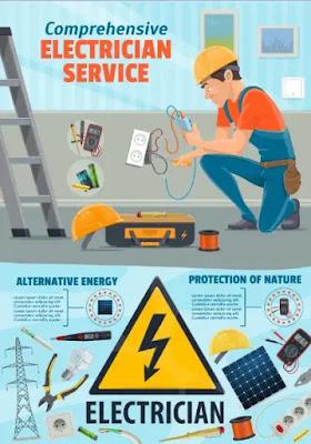 تحميل فيكتور أعمال الكهرباء وعدد الكهرباء للموشن جرافيك1