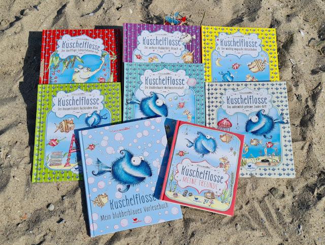 """Kuscheliger fisch voraus! Die """"Kuschelflosse""""-Kinderbücher und -Hörbücher. Die Geschichten der kuscheligen Fische vermitteln Werte wie Freundschaft und Zusammenhalt."""