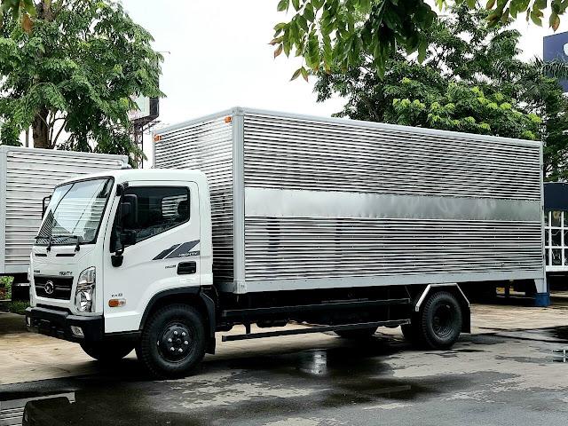 Giá lăn bánh xe tải Hyundai EX8L thùng kín