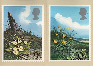 primrose and daffodil stamp cards