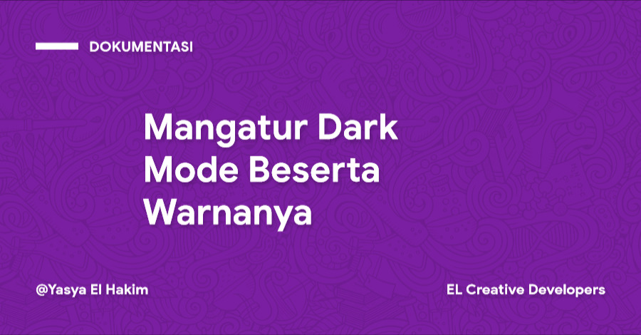 Cara Mangatur Dark Mode Beserta Warnanya pada Template Materia X2
