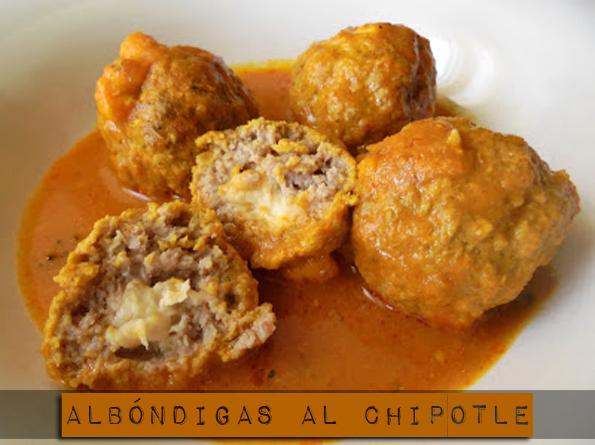 ALBONDIGAS AL CHIPOTLE COCINA RECETA GASTRONOMIA MEXICANA CARNE PICADA queso la cocinera novata