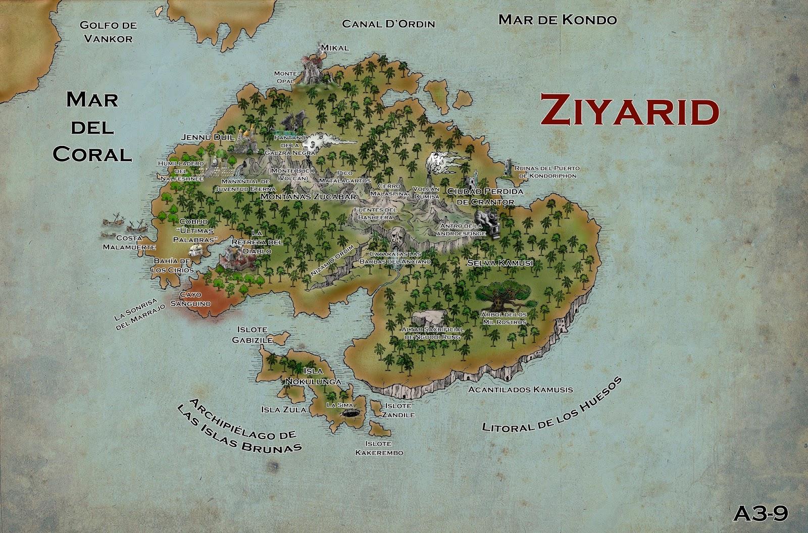 Ms mapas del Gazetteer La Marca