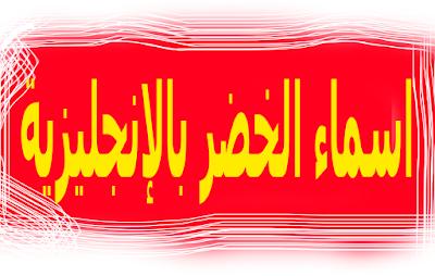 أشهر اسماء الخضر بالإنجليزية والعربية ❤️Vegetable names in English