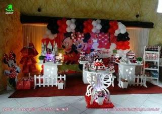 Decoração de aniversário Minnie vermelha