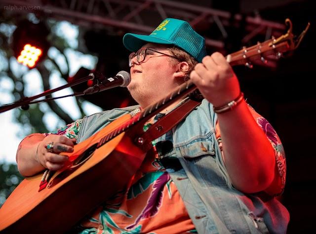 Joshua Ray Walker performing at the Haute Spot Music Venue in Cedar Park, Texas