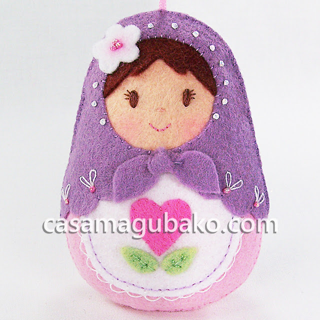Matryoshka Doll Ornament by casamagubako.com