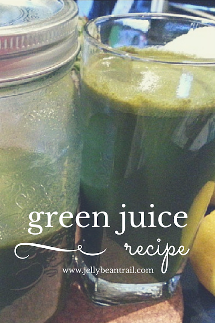 Easy Green Juice Recipe from The Jelly Bean Trail