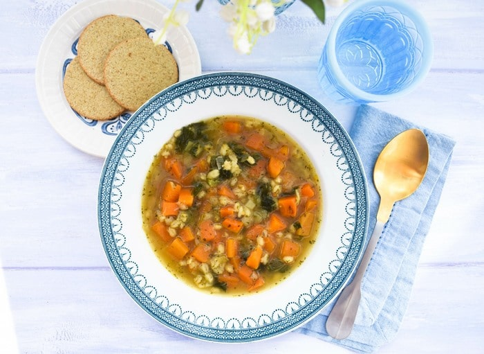 Easy Scotch Broth with Barley & Kale
