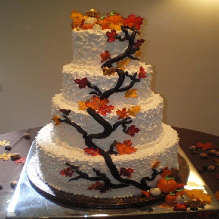Fall Themed Wedding Cake Toppers Cake Magazine