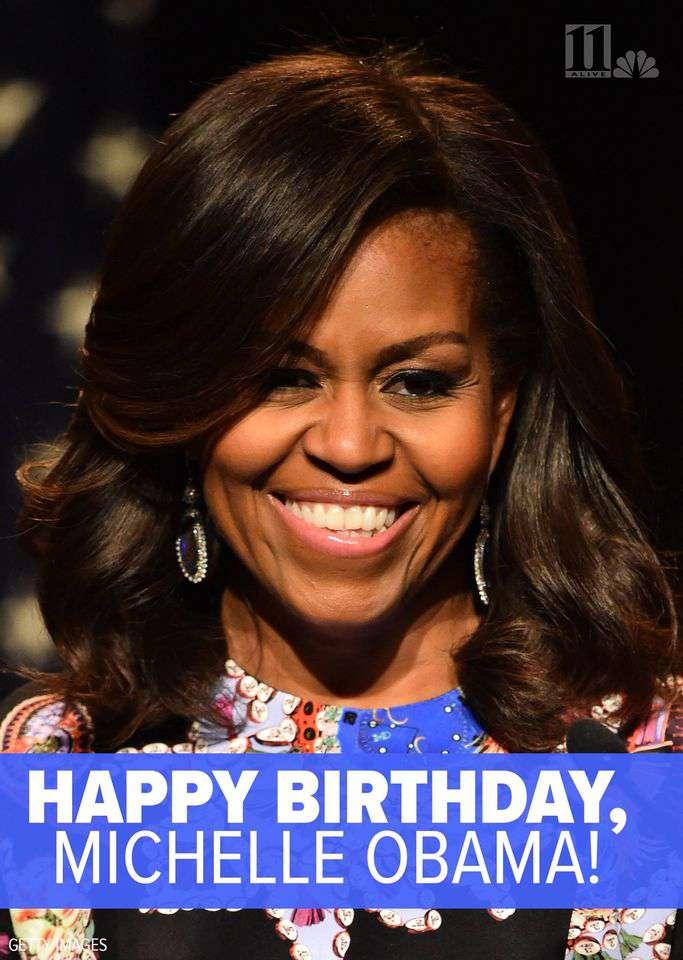 Michelle Obama's Birthday Wishes Unique Image