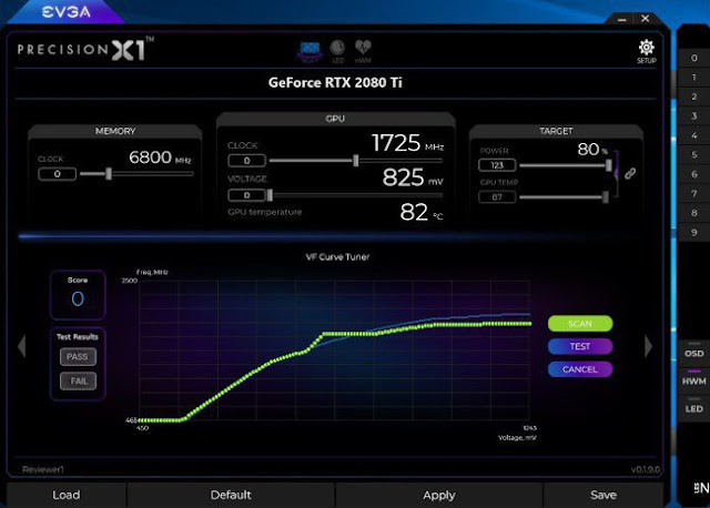 Evga's Precision X1 will feature the Nvidia Scanner feature to simply overclock your graphics card.