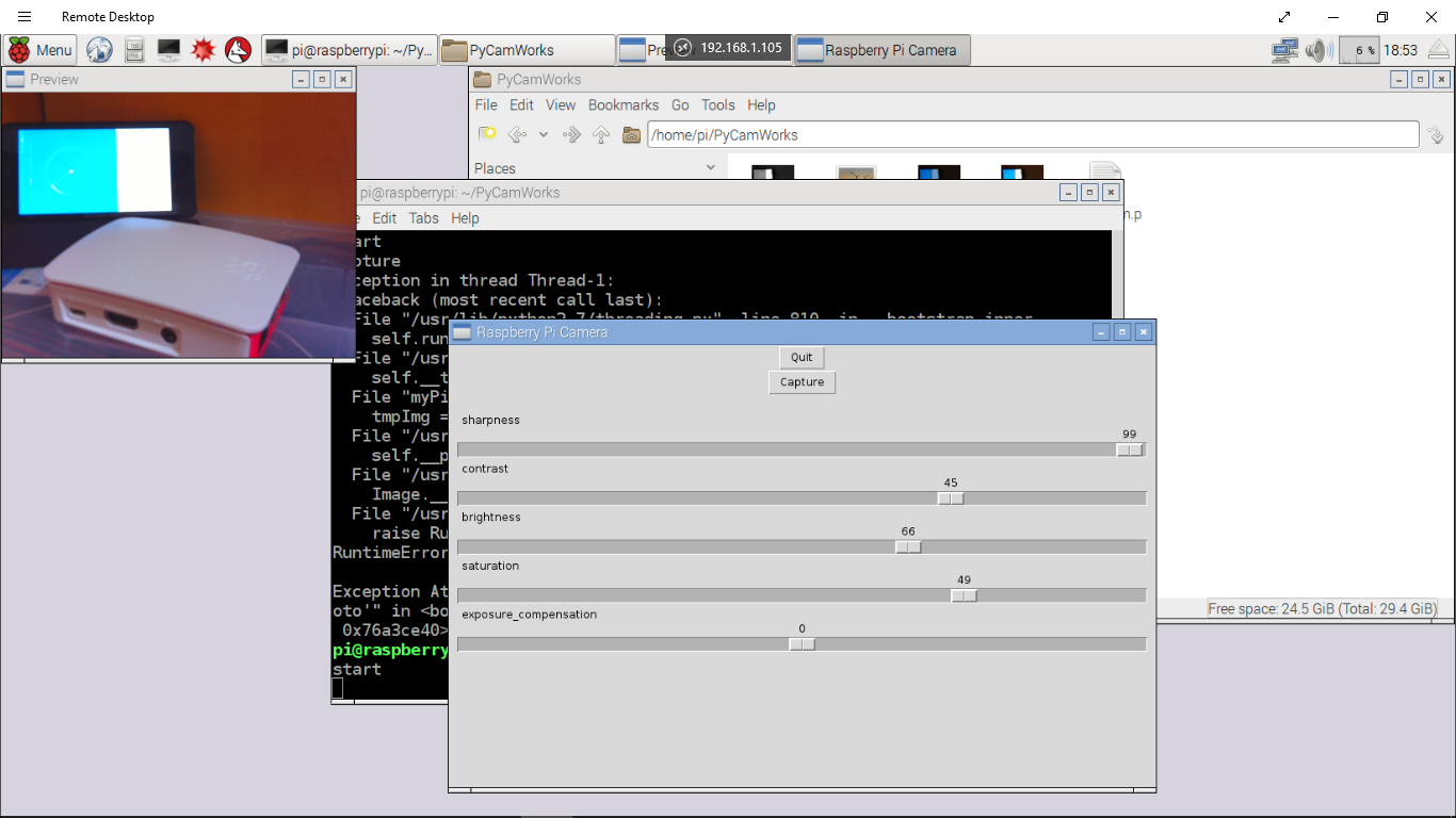 Hello Raspberry Pi: Python to capture image from Pi Camera Module