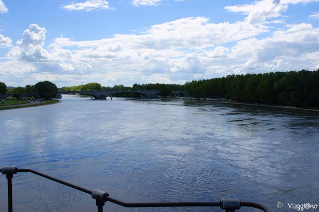 Avignone - Vista del Rodano dal Ponte Saint Benezet