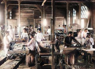 bengkel tempat pembuatan furnitur sekolah rheinische missiongesellschaft di kota pematangsiantar