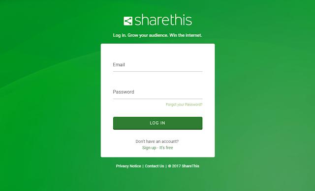 Inilah Cara Mudah Memasang Widget ShareThis di Blogger