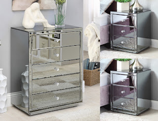 A Mirrored Chest of Drawers