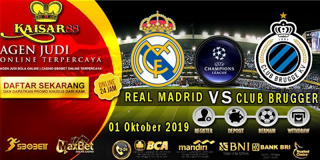 Prediksi Bola Terpercaya Liga Champions Real Madrid vs Club Brugge 1 Oktober 2019
