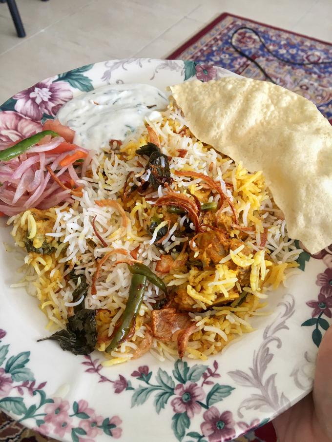 A plate of Kacchi Mutton Biryani