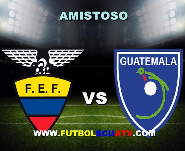 Ecuador recibe a Guatemala en vivo a partir de las 19:30 horario de nuestro país a efectuarse en el estadio Toyota Park ciudad de Chicago, por otro amistoso internacional siendo transmitido por las casas televisivas autorizadas TC Mi Canal y DirecTV Sports (PPV).