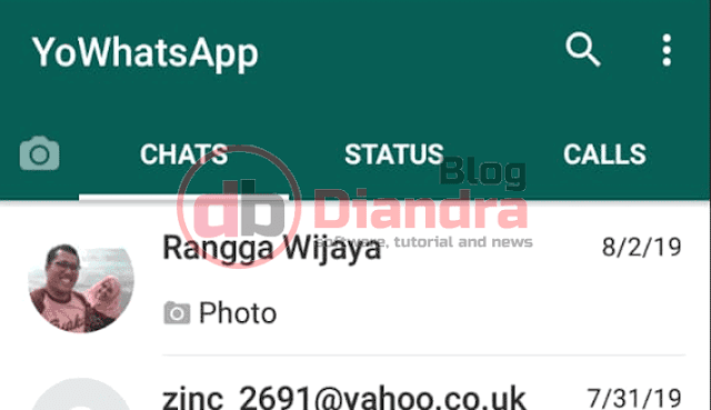 we have to open our YoWhatsapp in android smartphone