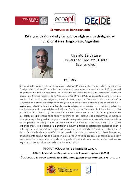 Estatura, desigualdad y cambio de régimen: La desigualdad nutricional en el largo plazo, Argentina.