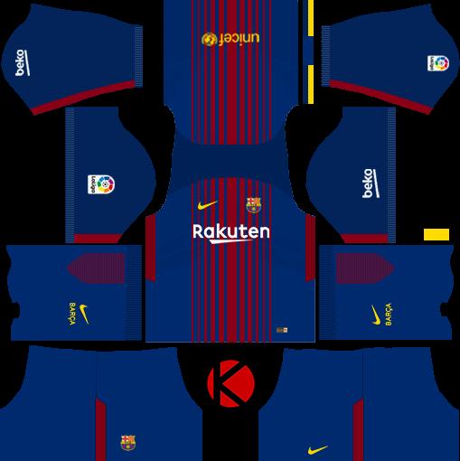 Barcelona Nike Kits 2017 2018 - Dream League Soccer - Kuchalana 0cae5ef049a4