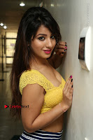 Cute Telugu Actress Shunaya Solanki High Definition Spicy Pos in Yellow Top and Skirt  0074.JPG