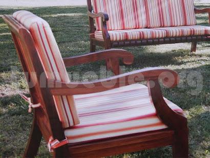 sofa 3 plazas en hecho teca 4166/2