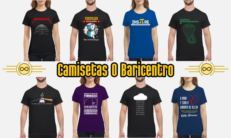 Banner da loja de camisetas O Baricentro