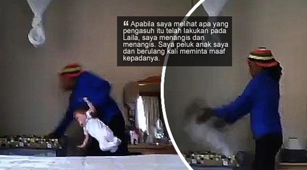 'Tergamak dia dera bayi saya begini' - Pengasuh campak dan tarik kaki anak majikan dirakam CCTV