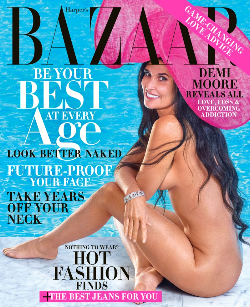 Demi Moore bares it all for Harper's Bazaar US October 2019