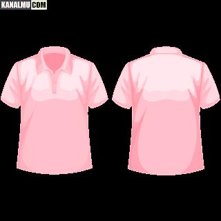 mentahan kaos polos pink polo PNG - kanalmu