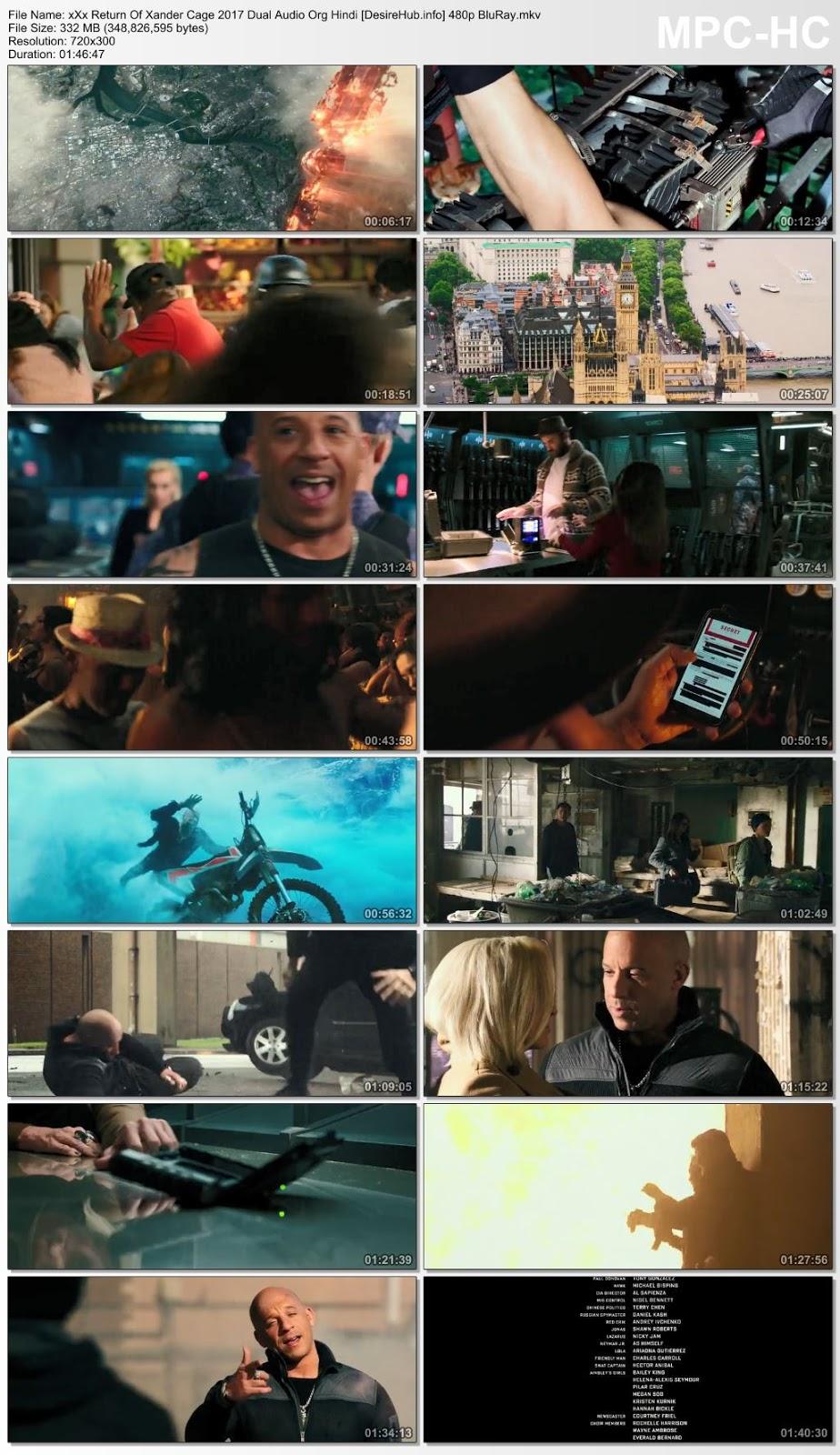 xXx: Return of Xander Cage 2017 Dual Audio Hindi 480p BluRay 300MB Desirehub