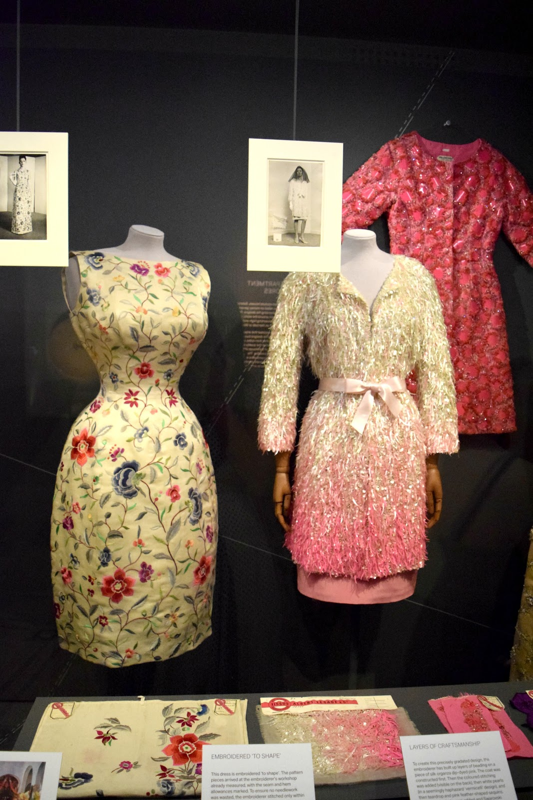 balenciaga designs displayed at fashion exhibition london