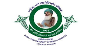 BFUHS 1978 Staff Nurse And Other Post Recruitment Online Forms 2020 ,Baba Farid University of Health Science Medical Officer Recruitment 2020