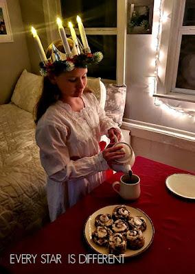 Santa Lucia Serving Breakfast