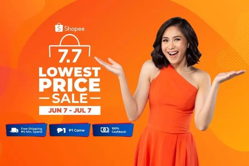 Up to 90% off during Shopee 7.7 Lowest Price Sale