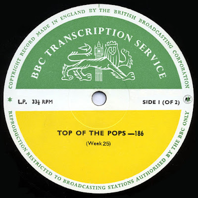 BBC Transcription Services Top Of The Pops Vol.186
