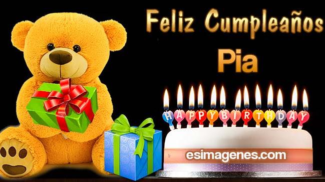 Feliz cumpleaños Pia