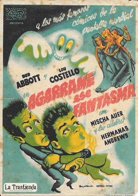 Programa de Cine - Agárrame ese Fantasma - Bud Abbott - Lou Costello