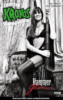 Cover B of Captain Kronos Vampire Hunter #1 from Titan Comics featuring Caroline Munro