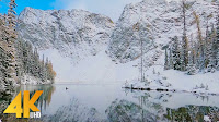 4K Winter Forest Walk with Bird Sounds & Calming Music - Hike along the Blue Lake Trail, WA State