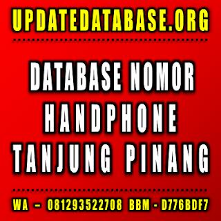 Jual Database Nomor Handphone Tanjung Pinang