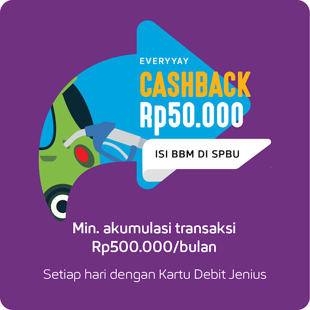 Program Isi BBM Dapat Cashback dari Jenius