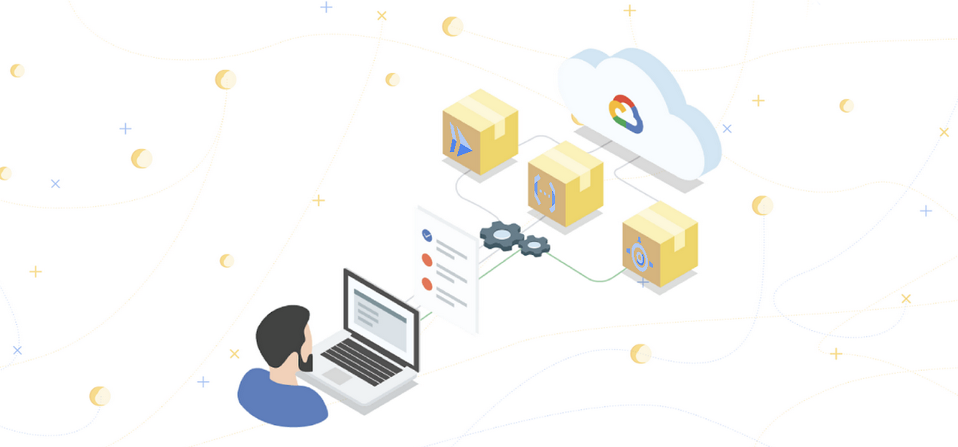 Banner image that shows the App Engine, Cloud Functions, and Cloud Run logos