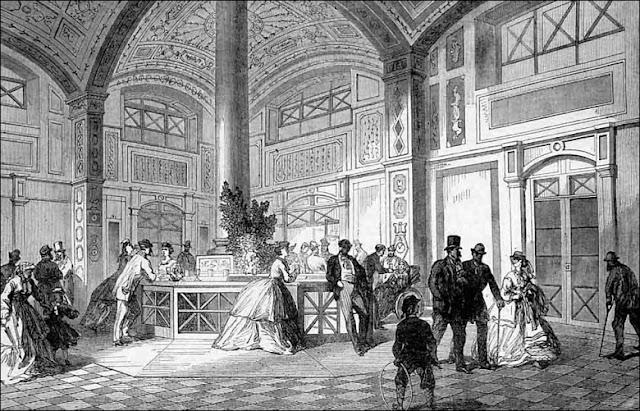 Trinkhalle Baden-Baden, Stahlstich, 1854