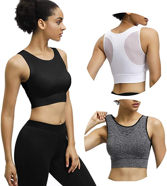 40% OFF 3 Pack High Neck Sports Bras for Women