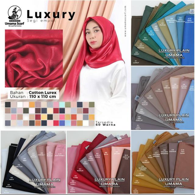 Jual Jilbab Segi Empat LUXURY Glamour Gliter TErbaru